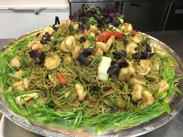 Seafoods noodles